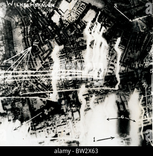 RAF Bombing Raid on Wilhelmshaven, Germany on the night of 15th/16th January 1940 - Stock Image