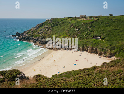Porthcurno, Cornwall in Britain - Stock Image