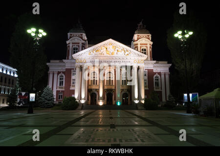 SOFIA, BULGARIA - MAY 7, 2018: Ivan Vazov National Theatre in the city center of Sofia, Bulgaria. Sofia is the capital and largest city of Bulgaria. - Stock Image