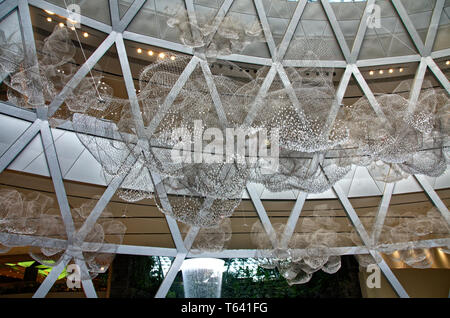 Entrance to the Jewel from Terminal 1, Changi airport, Singapore - Stock Image