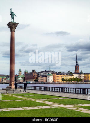 Monument to Engelbrekt near the Stadshus in Stockholm, Sweden. - Stock Image