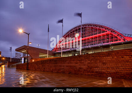 Manchester Central Convention Complex is an exhibition and conference centre converted from the former Manchester Central railway station - Stock Image