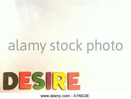 desire (word) - Stock Image