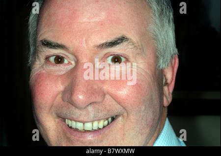 man male face portrait happy smile old age pensioner positive - Stock Image