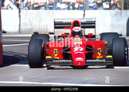 1991 Jean Alesi French Ferrari 642 Monaco GP 3rd - Stock Image