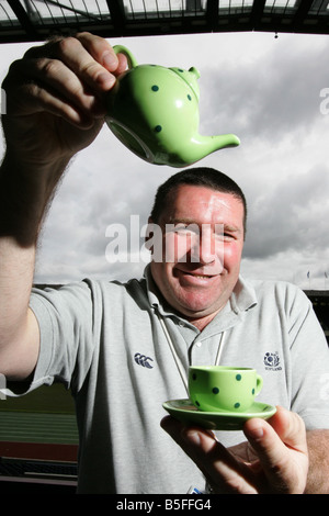 Scotland U19 Rugby coach Peter Wright at Murrayfield stadium - Stock Image
