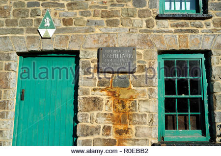Birthplace of Joseph Parry (1841-1903), Welsh composer. 4 Chapel Row, Merthyr Tydfil, south Wales, UK. - Stock Image
