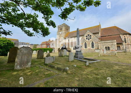 St Leonards church, Seaford, East Sussex - Stock Image