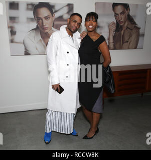 Celebrities attend ÁME Jewelry Launch Event at Eric Buterbaugh Gallery  Featuring: Law Roach, Wilma Williams Where: Santa Monica, California, United States When: 13 Dec 2018 Credit: Brian To/WENN.com - Stock Image