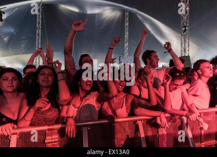 London, UK, 3rd July 2015. Duke Dumont,  New Look Wireless Festival, Finsbury Park  Credit:  Robert Stainforth/Alamy - Stock Image