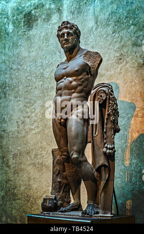 Italy Emilia Romagna Parma Museum Pole of the Pilotta - National Gallery - room the two Colossus - Hercules and Bacchus - Hercules - Stock Image