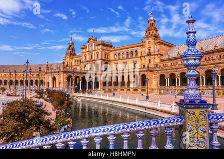 Spanish Square 'Plaza de Espana'; in Sevilla, Spain. - Stock Image