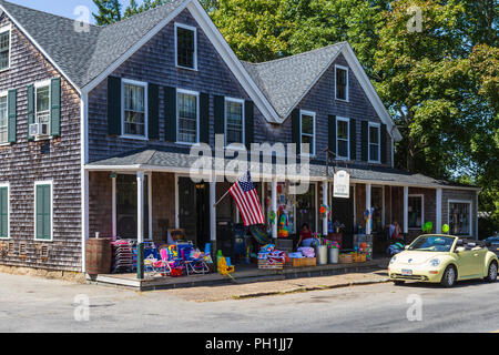 Historic Alley's General Store, originally established in 1858, in West Tisbury, Massachusetts on Martha's Vineyard. - Stock Image