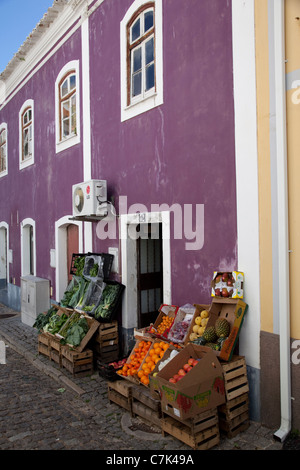 Portugal, Algarve, Monchique, Fruit & Veg Shop - Stock Image
