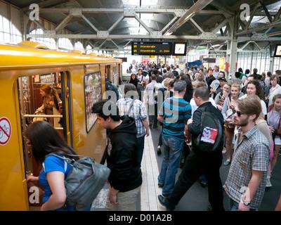 People using the Metro in Berlin Germany - Stock Image