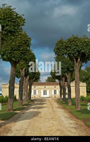 entrance chateau trottevieille saint emilion bordeaux france - Stock Image