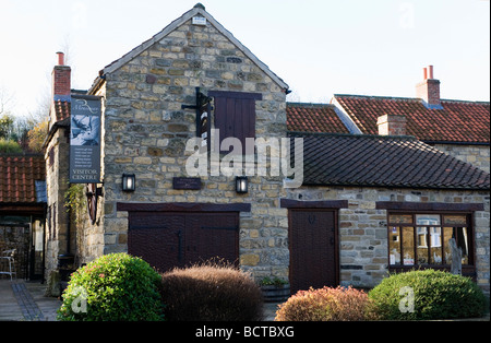 Mouseman furniture manufacturer Robert Thompson factory and shop Kilburn North Yorkshire  EDITORIAL USE ONLY - Stock Image