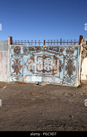 Door in Ishkachim, GBAO , Tajikistan - Stock Image
