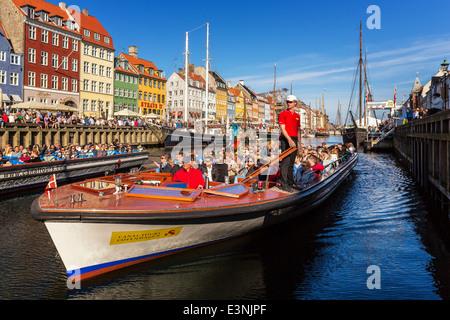 Nyhavn Canal, Nyhavn, Copenhagen Denmark - Stock Image