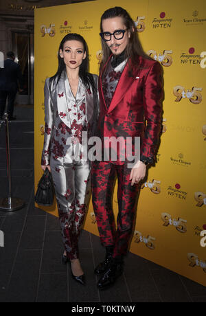 Celebs attend gala evening for Dolly Parton's 9 to 5 The Musical  Featuring: Joshua Kane Where: London, United Kingdom When: 17 Feb 2019 Credit: Phil Lewis/WENN.com - Stock Image
