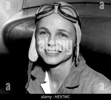 Mrs. Betty Gillies was the first woman pilot to be 'flight checked' and accepted by the Women's Auxiliary - Stock Image