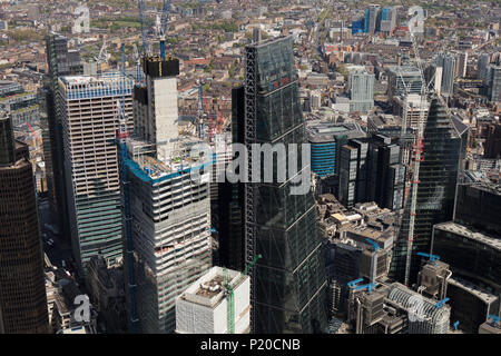 An aerial view of the City of London - Stock Image
