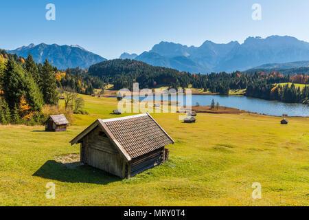 Gerold, Garmisch Partenkirchen, Bavaria, Germany, Europe. Autumn season in Gerold - Stock Image