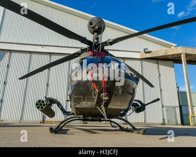 Kiowa Warrior OH-58D helicopter OH58D HRZ Croatian Air Force Zemunik near Zadar public display frontal front view - Stock Image