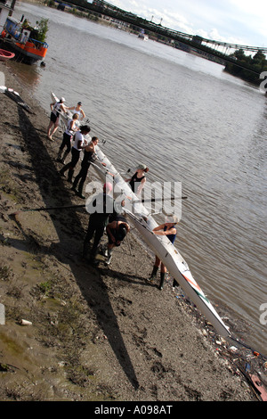Rowing club at Hammersmith 2006 - Stock Image