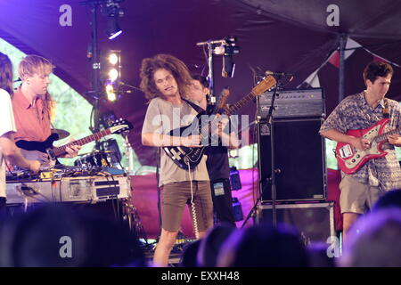 Henham Park, Southwold, Suffolk, UK. 17th July, 2015. The Australian band King Gizzard and the Lizard Wizard play - Stock Image