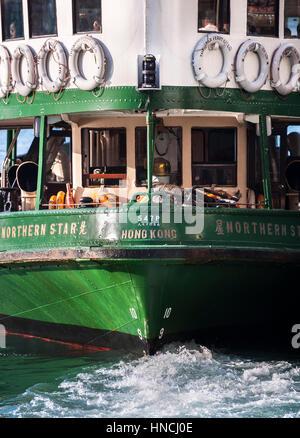 Closeup shot of Hong Kong's Star Ferry - Stock Image