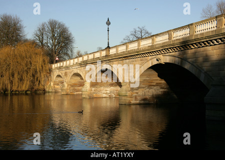 The Bridge Over the Serpentine Lake Hyde Park London - Stock Image