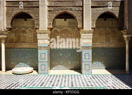Al Attarine Madrasa in Fez, Morocco - Stock Image