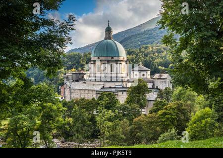 Santuario di Oropa Sanctuary Biella Piedmont Italy Catholic Reigion Church Landmark in the Alpi Biellesi of Piemonte region - Stock Image
