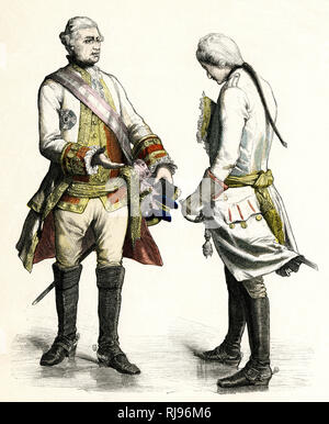 Austrian officers. - Stock Image