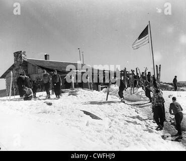 View from the summit of Cranmore Mountain ski resort, North Conway, New Hampshire on March 23, 1941 - Stock Image
