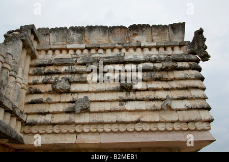 Quadrangle of the Birds, Maya Ruins, Uxmal Archeological Site, Yucatan Peninsula, Mexico - Stock Image