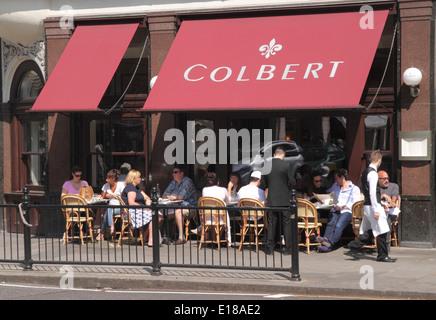 Colbert Restaurant Sloane Square Chelsea London - Stock Image