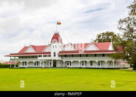 The wooden Royal Palace of the Kingdom of Tonga in the capital of Nukualofa or Nuku'alofa, Polynesia, Oceania, South Pacific Ocean. Built in 1867, the - Stock Image
