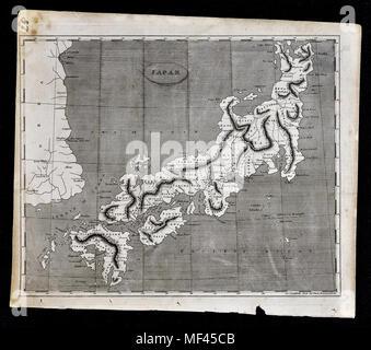 1804 Arrowsmith Map - Japan Yedo Tokyo Nippon Nagasaki Korea Asia - Stock Image