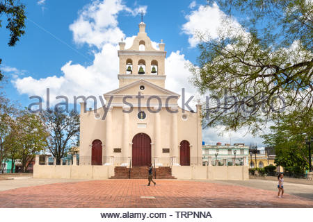 'El Carmen' Catholic church which is a Cuban National Monument and a tourist attraction in the Central city of the Caribbean island. - Stock Image
