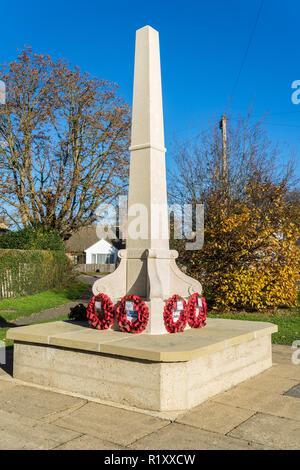 Milton war memorial 2 days after rememberance day 13/11/2018 - Stock Image