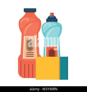 Set of cleaning equipment and products - Stock Image