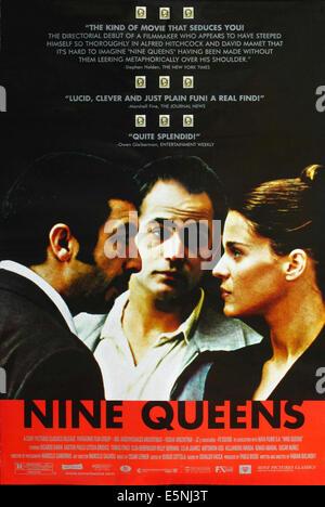 NINE QUEENS, (aka NUEVE REINAS), US poster, Ricardo Darin, Gaston Pauls, Leticia Bredice, 2000. ©Sony Pictures - Stock Image