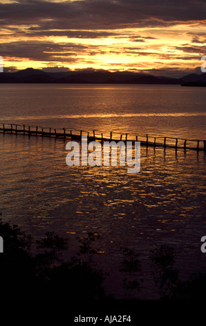 Sunset Corcovado National Park Costa Rica - Stock Image