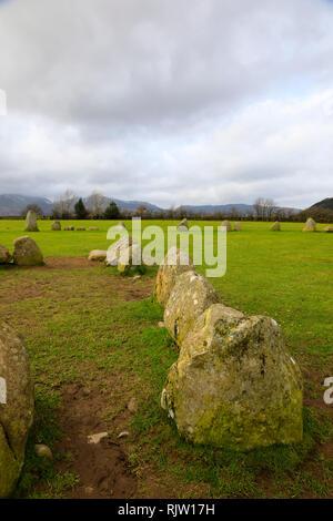Castlerigg stone circle, Keswick, Lake District, Cumbria, England - Stock Image