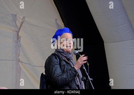 Bristol, UK. 14th October, 2017. Julie Girling, Conservative MEP for South-West England and Gibraltar, speaks at - Stock Image