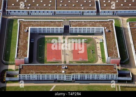 Prison, JVA Billwerder, High Security Department, Billwerder, Hamburg, Germany - Stock Image
