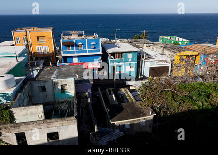 La Perla neighborhood, Old San Juan, Puerto Rico - Stock Image