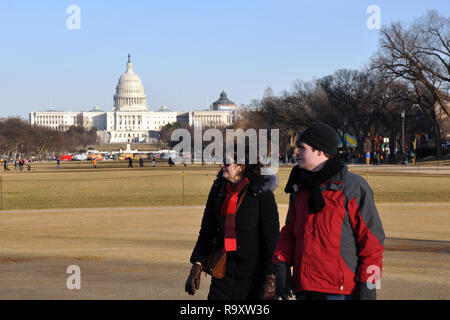View of US Capitol, Washington DC - Stock Image